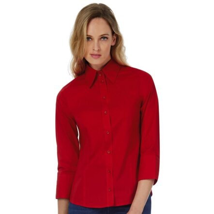 Poplin Blouse with 3/4 Sleeves - SW520
