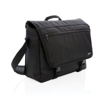 "Swiss Peak RFID 15"" laptop messenger tas PVC vrij, zwart"