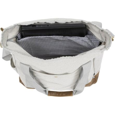 bbfd521287f Harper katoenen canvas draagtas met rits bedrukken, grijs
