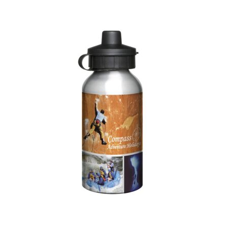 Aluminium Sportsbottle wit 400ml