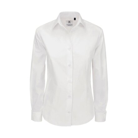 Ladies` Heritage LS Poplin Shirt - SWP43